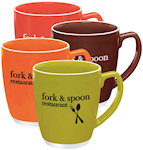 16oz Large Color Accent Bistro Mugs